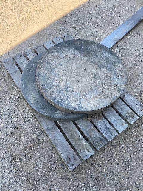 2 stk. letvægts dæksler 70 cm til gå på