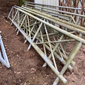 Stål gelænder 1 m høj ca. 24 meter