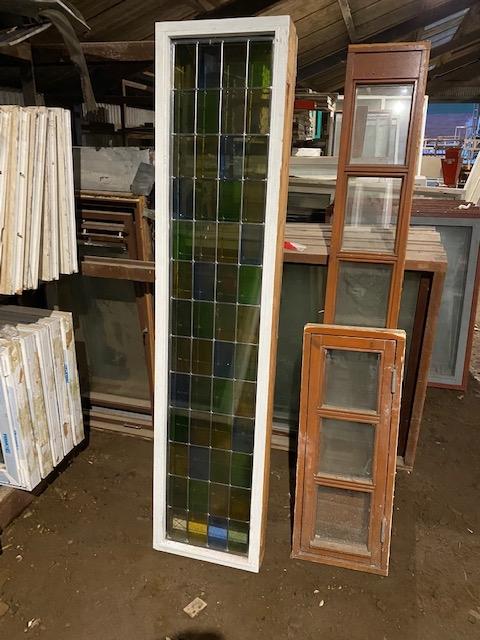 Vinduer med farvede glas 2 stk 0,45 cm bred 2.0 meter hø